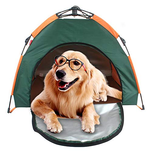 Pet Tent with Carry Bag,Portable Folding Waterproof Sunscreen Outdoor Dog Kennel Breathable Washable Pet Puppy Kennel Indoor Outdoor House Bed Tent