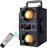Bluetooth Speaker, 30W(50W Peak) Portable Bluetooth Speakers Wireless Stereo Rich Bass Speakers Built-in 8000mah Battery with Double Subwoofer Outdoor Party Speakers Support FM Radio