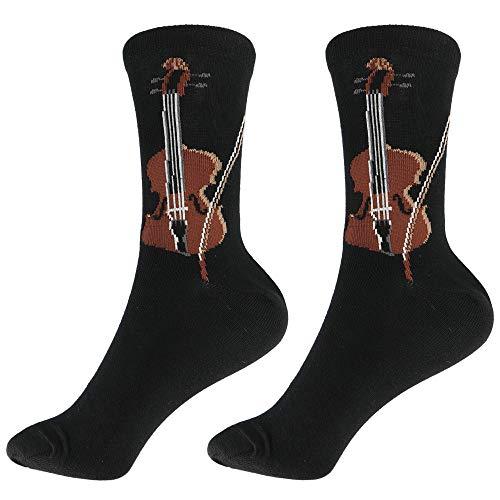 mugesh Musik-Socken Geige (46/48) - Schönes Geschenk für Musiker