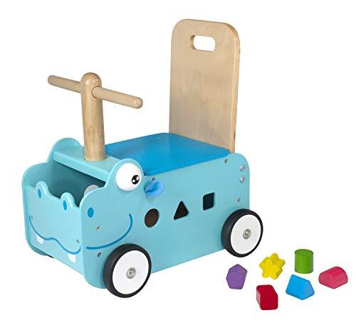 I'm Toy Carro de Madera hipopótamo Correpasillos