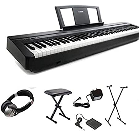 Yamaha P45 Digital 88 - Paquete de piano de escenario clave ponderado (P-45 P 45)