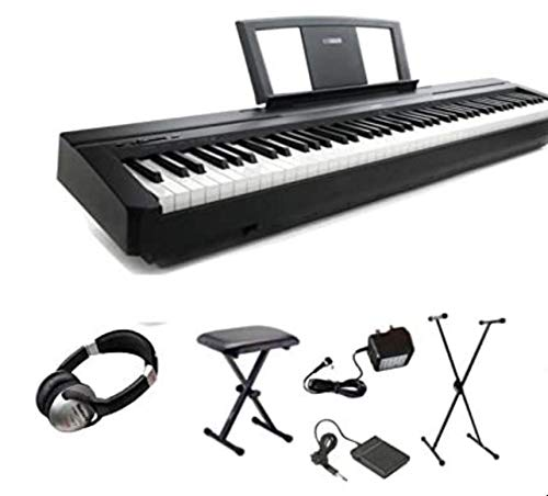 Yamaha P45 Digital 88 gewichtete Key-Stage Piano Deluxe Paket (P-45 P 45)