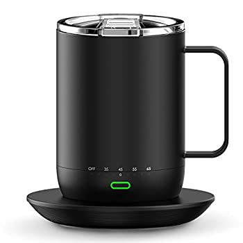 Smart Mug Warmer with Double Vacuum Insulation,VSITOO S3 Pro App Temperature Control Coffee Mug Warmer with Sliding Lid 4-Hr Battery Life - 14oz - IPX7 Waterproof Design
