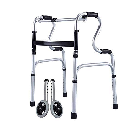 Z-SEAT Leichter Gehrahmen Standard Walker Rollator Walker Klappbare Unterarmstütze mit Sitz Vierradrollator für ältere/behinderte Menschen (Vierbeiner)
