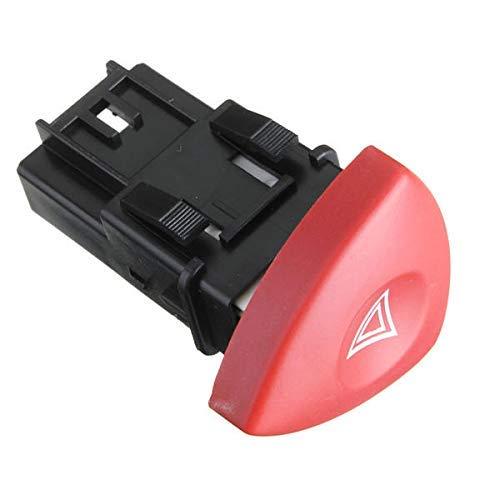 Suncolor8 Compatible Peligro Admonición Lite Interruptor botón Rojo para Renault Vauxhall Nissan Ver