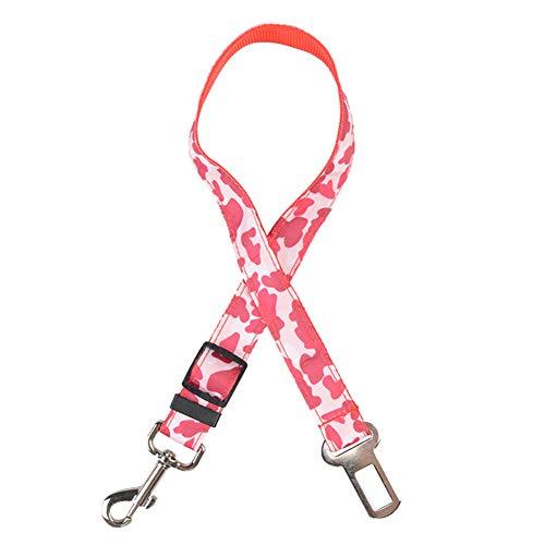 jingxiaopu Correa Corta Perro Correa Perro PequeñO Cinturon Perro Arnes Perro Mediano Cinturon De Seguridad para Perros Cinturon Seguridad Perro para Mascotas Perros Pink