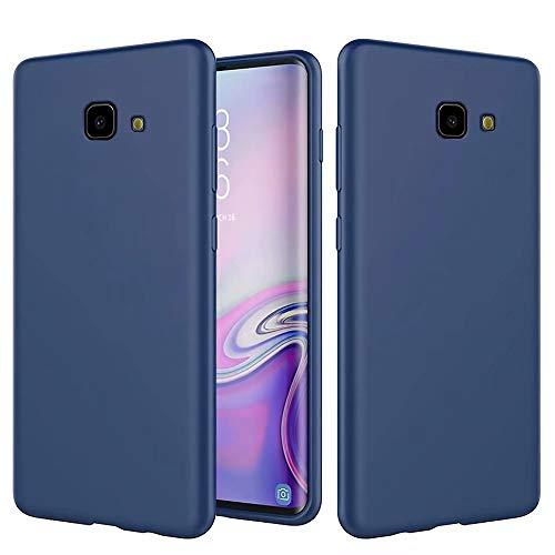 DYGG Compatible avec Coque Samsung Galaxy J4 Plus/J4+ en Silicone Liquide Ultra Mince Doux Gel TPU Case Cover, Anti-Chute/Anti-Choc Housse de téléphone en Silicone - Bleu