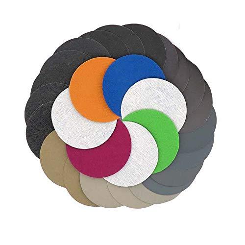 FWZJSD Schleifpapier 30StückKörnung 125 mm1000/1500/2000/3000/5000/7000 Wasser Nass-Trocken-SchleifscheibenKlett-Schleifpapier Rund-Schleifpapier-Scheibe Schleifblatt