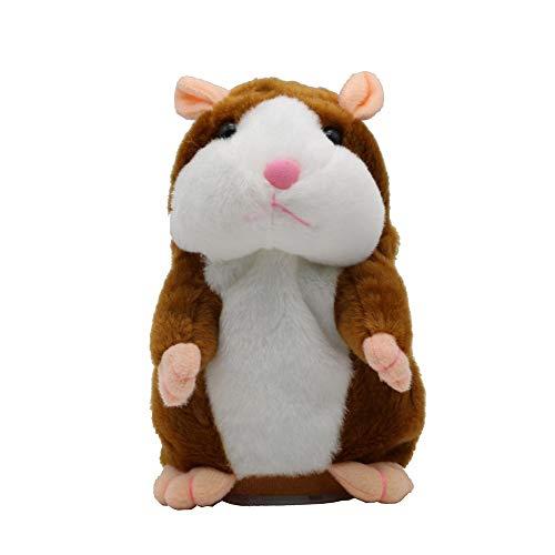 letaowl Peluche Talking Hamster Mouse Pet Plush Toy Cute Speak Talking Sound Grabar Hamster Juguete Educativo para Niños Hámster Años
