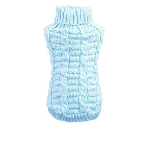 Bluelucon Hundebekleidung Haustier Winter Woolen Sweater Knitwear Puppy Clothing Art- und Weisehaustier-Hundestrickjacke