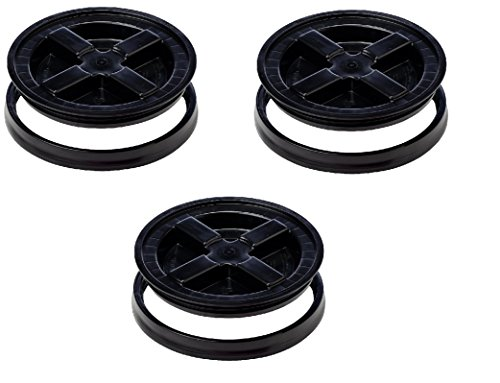 Best Buy! Gamma Seal Lid, Black - 3 Pack