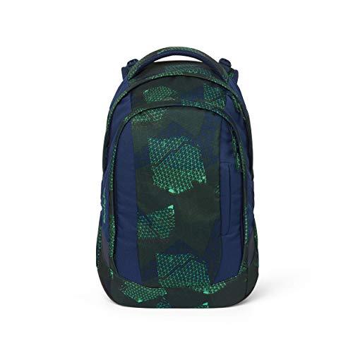 satch Sleek Infra Green, ergonomischer Schulrucksack, 24 Liter, extra schlank, Grün