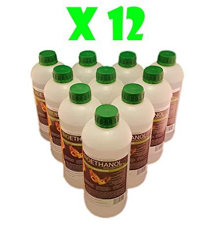 12L Bioethanol Fuel Liquid Fuel Golden Fire Premium Grade Quality, Clean Burn Bio Ethanol