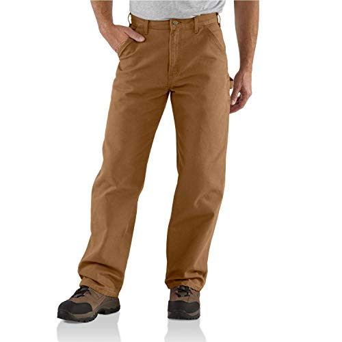 Carhartt Men's Washed Duck Work Dungaree Pant,Carhartt Brown,36W x 34L