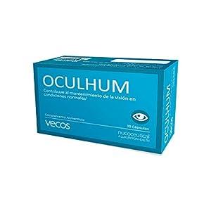 Oculhum Vecos para el cuidado, lubricación e hidratación ocular – Sustituto de colirio y lagrima artificial - Maquibrith®, zinc, vitamina A y Omega 3 para la sequedad y fatiga de los ojos – 30 cáps.