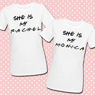 Monica Friends inspired personalizzabili T-shirt di coppia She is my Rachel