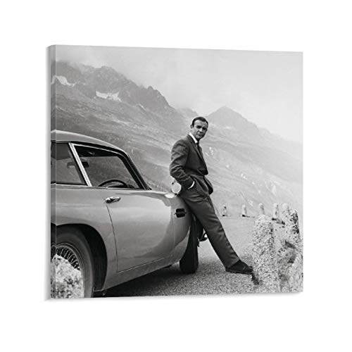HUAIREN Movie Posters Vintage Goldfinger by Guy Hamilton,James Bond 007, 1964 for Wall Art Gifts Decor 12x12inch(30x30cm)