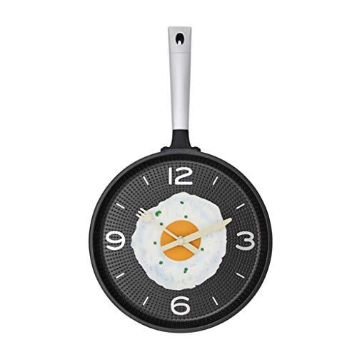 Xz max @Muur Klok Wandklokken Batterij Bediende Niet Ticking Koken Pan Klok Keuken Decoratieve Woonkamer Decor Stille Slaapkamer Creatief Ontwerp Quartz