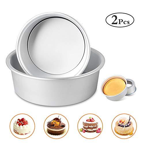 Bestcool - Juego de moldes para tartas (2 unidades, 15,2 cm, antiadherentes y a prueba de fugas)