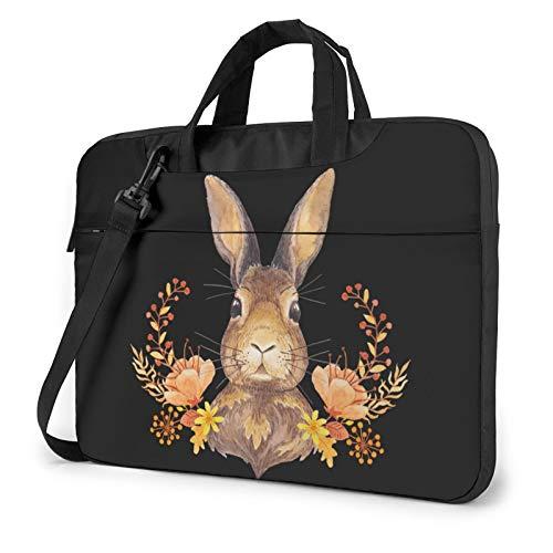 Bunny Rosette Unisex Laptop Shoulder Bag Messenger Case for Computer Briefcase Carrying Sleeve