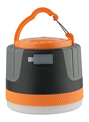 LIT-PaTH LED Camping Light, Rechargeable Lantern with Magnet Base and 4400 mAh Charger for Mobile, Survival Kit for Emergency, Hurricane, Outage (Large-Orange)