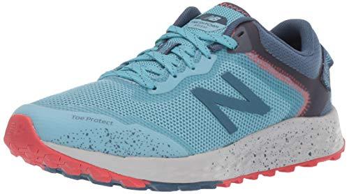 New Balance Women's Fresh Foam Arishi Trail V1 Running Shoe, Wax Blue/Stone Blue/Light Aluminum, 6 W US
