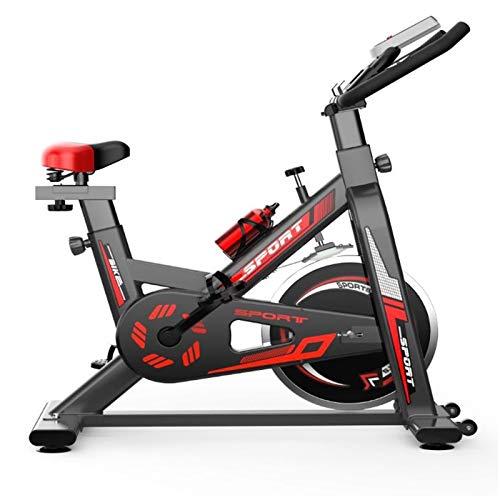 Broccoli Spinning Tranquila Bicicletas Fijas Entrenamiento Transmisión del Cinturón,con un Cómodo Cojín Asiento Estable Volante/Ajustable y Manija LCD Monitor,Interior Ciclo
