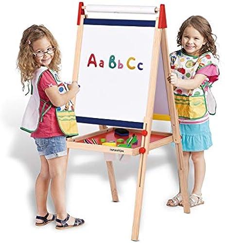 Kinder Staffelei doppelseitige Tafel Malerei Halterung magnetische Massivholz kann angehoben und abgesenkt Kinder Zeichenbrett Staffelei Tafeln