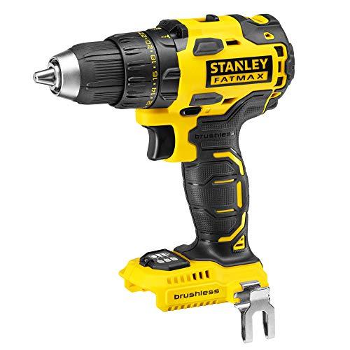 STANLEY FATMAX FMC607B-XJ - Taladro atornillador Brushless 18V, par máximo 55Nm (sin batería/cargador)