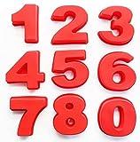 NELAHSHA 9 Stück Zahlen Kuchenformen Große Silikon Backform Zahlen(0-8) Kuchenform Tortendekoration Zahlen Backformen für Geburtstag Hochzeit Jahrestag (10x9.5x3cm)
