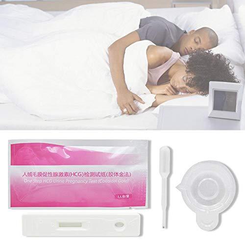 MezoJaoie Tiras de prueba de embarazo HCG, tiras de prueba de embarazo con 1 pieza de prueba de embarazo de copa de orina gratis Detección temprana: hágalo usted mismo Pruebas de embarazo caseras