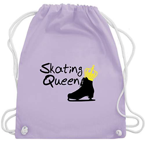 Shirtracer Wintersport - Skating Queen - Unisize - Pastell Lila - eiskunstlauf schlittschuhe - WM110 - Turnbeutel und Stoffbeutel aus Baumwolle