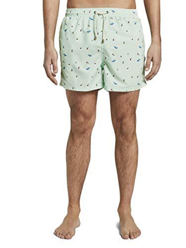 TOM TAILOR Herren Nightwear Gemusterte Badeshorts Mint,XXXL,P509,7000