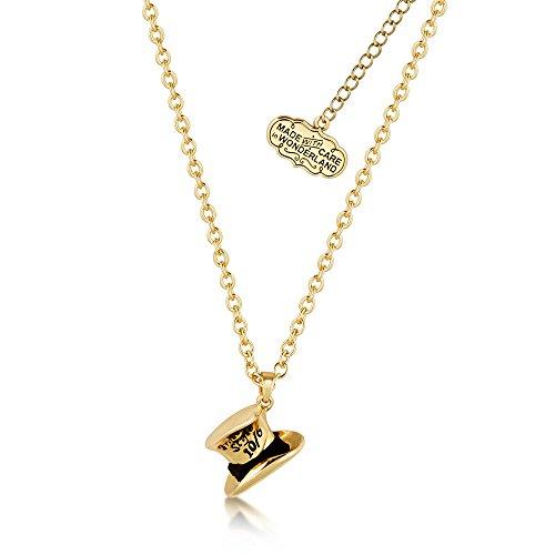 Disney Couture Kingdom - Collar corto chapado en oro de Alicia en...