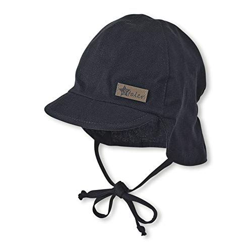 Sterntaler Baby-Jungen Schirmmütze Bindebändern und Nackenschutz Mütze, Blau (Marine 300), (Herstellergröße: 45)