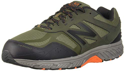 New Balance Men's 510v4 Cushioning Trail Running Shoe, Dark Covert Green/Phantom/Bengal Tiger, 10 D US