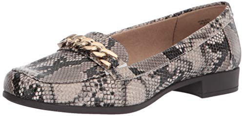 Anne Klein womens Valisity Loafer, Natural Snake Print, 9.5 US