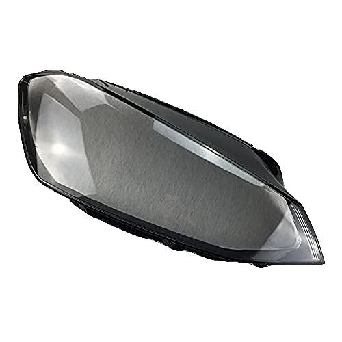 TOOWGM Para Volkswagen Golf 7 VW MK7 GTI 2014 – 2017 cubierta delantera del coche cubierta de la lente de cristal auto tapas de la luz caso de la pantalla del faro (izquierda y derecha)