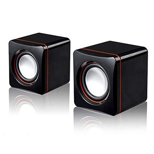 101C USB Laptop Lautsprecher Box Small Sound Tragbarer Sound - Schwarz & Silber