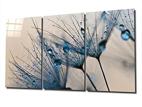 QUANQUAN Stampe e Quadri su Tela Quadri su Tela Arte murale Stampe HD Immagini 3 Pezzi Fiori Astratti Poster per Soggiorno Decorazioni per la casa modulari