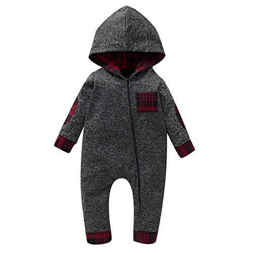 Baby Overall/Schlafanzug,Kleinkinder Softshellanzug,Walkanzug Baby- Walk Baby Overall, Babyoverall aus Walkwolle, Walkoverall mit Kapuze (3M-18M)