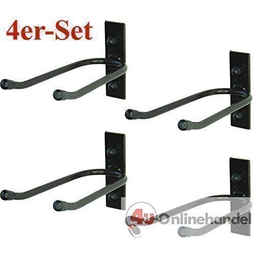 4 x Gerätehalter Halterung Gartengerätehalter Besenhalter Garten Spatenhalter Wand