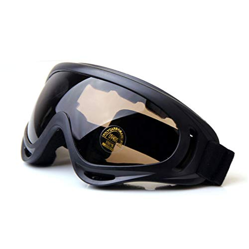 QMFIVE Airsoft X400 A Prueba de Viento A Prueba de Polvo Protección Táctica Gafas Gafas de Motocicleta Lente Transparente para la Ciclismo esquí Tactical al Aire Libre(marrón)