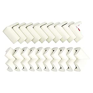 Amazon Brand - Solimo Corner Protectors for Babyproofing, White (20 Pre-taped Corner Guards) 9 41XkDDMhm1L. SS300