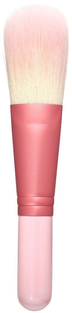 ギャザー暖かく鼻熊野筆 Purin 3D型パウダーブラシ(ピンク) KOYUDO Collection