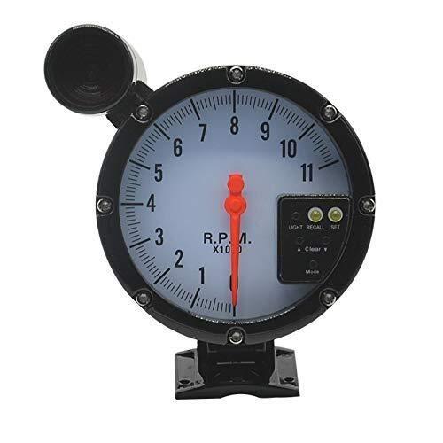 LUISONG FANMENGY Cauge Medidor Car Tacómetro Gauge 5 Pulgadas 127mm Tacómetro 7 Colores del LED Ajustable Meter 12V 0-11; 1000 RPM for el Coche del Barco del Carro