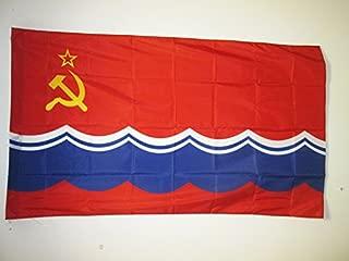 AZ FLAG Estonian Soviet Socialist Republic Flag 3' x 5' for a Pole - Estonia SSR Flags 90 x 150 cm - Banner 3x5 ft with Hole