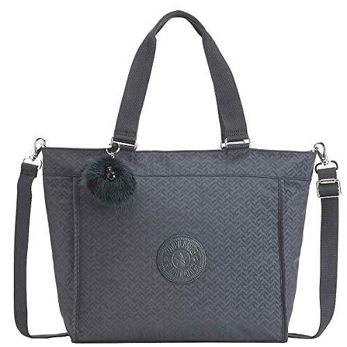 Kipling Damen New Shopper L Umhängetasche, Blau (Night Blue Emb), 15x24x45 centimeters