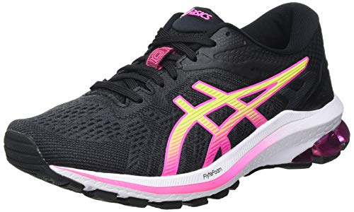 Asics GT-1000 10, Road Running Shoe Mujer, Black/Hot Pink, 39 EU