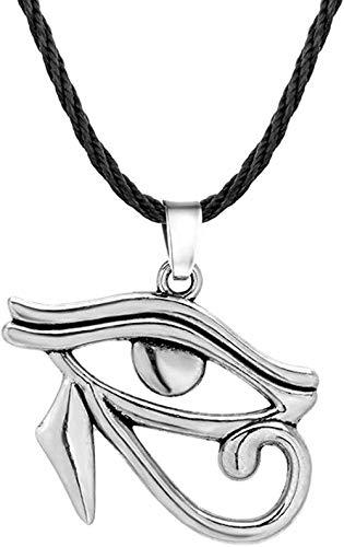 CAISHENY El Ojo del Encantador Colgante, Collar con runas egipcias Antiguas, Collares, joyería de Cobre con Gargantilla de Cadena de Cuerda